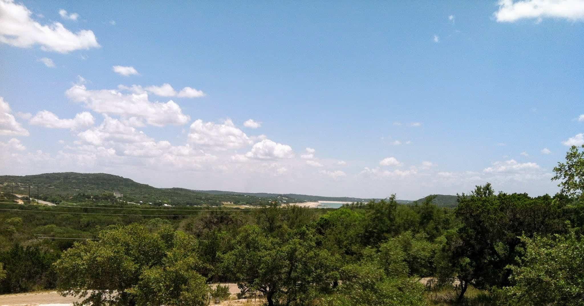 scenic view of Medina Lake in Lakehills, Texas