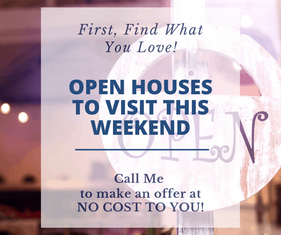 Open Sign for Open Houses to Visit